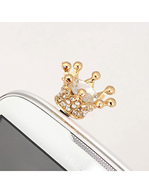 Boxed white blink crown design alloy Mobile phone products