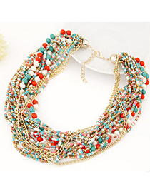 Roll Multicolor Beads Decorated Multilayer Design
