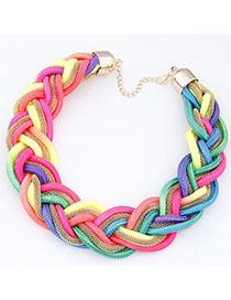 Current Multicolor Metal Decorated Weave Design