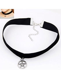 Alternativ Silver Color Lucky Star Pendant Decorated Simple Design