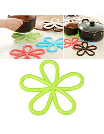 Skinny Green Plum Flower Insulation Heat-Proof Pad PVC Household goods