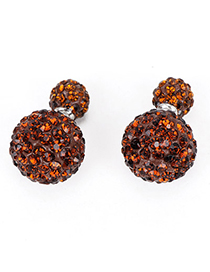 Flip Coffee Diamond Decorated Round Shape Design