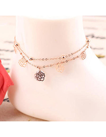 Bridesmaid Rose Gold Diamond Decorated Rose Shape Design