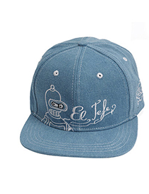 Outdoor Sports Blue Embroideried Letter Pattern Simple Design Denim Baseball Caps