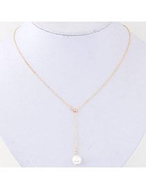Exquisite Gold Color Pearl Pendant Decorated Simple Design