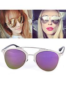 Wholesale Purple Thin Leg Metal Frame Design Alloy Women Sunglasses