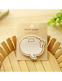 Personality Khaki Cartoon Facial Expression Decorated Simple Design Paper Scratch Pad Sticky