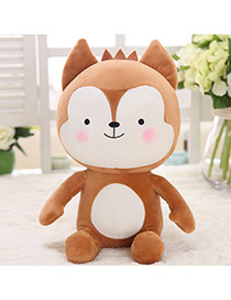 Lovely Brown Cartoon Wolf Shape Design Dots Descendants Of The Sun Fabric Household goods