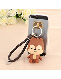 Trendy Coffee Doll Pendant Mobile Phone Shell Dots Descendants Of The Sun