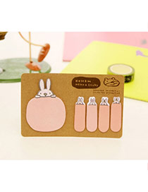 Lovely Pink Cartoon Pattern Simple Design Paper Stickers Tape