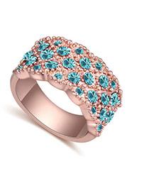 Anillo De Moda Decorado Con Diamantes Replicas