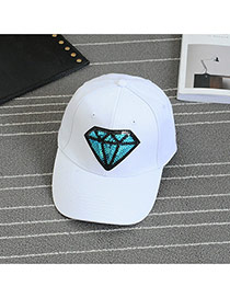 Gorra De Béisbol Decorado Con Bordado De Diamante