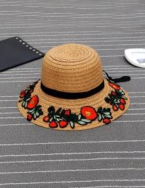 Sombrero Decorado Con Lazo&bordado De Flor